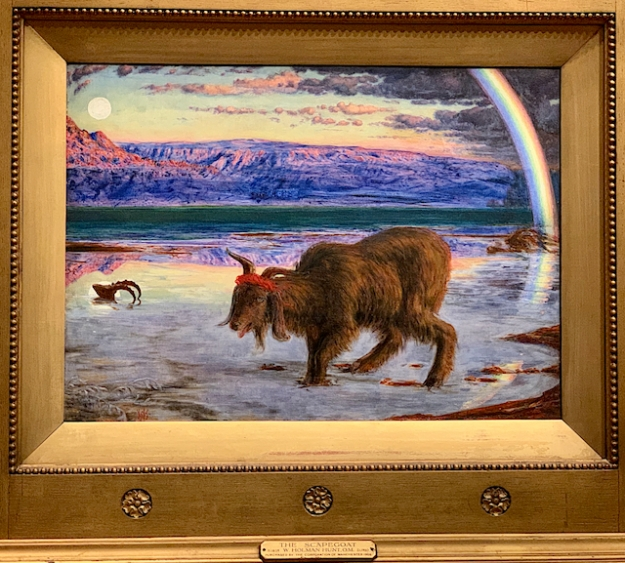THE SCAPEGOAT IN THE WILDERNESS BY HOLMAN HUNT